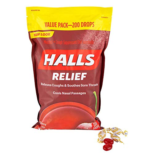 Halls Triple Soothing Action, Cherry, 200 Drops