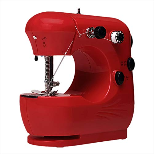 YO-HAPPY Máquina de Coser doméstica Mini máquina de Coser eléctrica Familiar Ajustable de 2 velocidades