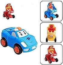 Kids Dukaan Pull & Push Back Transformer car Action Robot Car Toy for Kids, Transformer Racing Car Push Back Bump & Go Toy Set for Kids (Random Color)