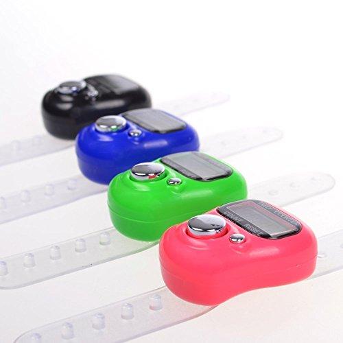 8 Pcs Nützliche Elektronischer Reihenzähler Finger Ring Golf Digit Stitch Marker LCD Handzähler
