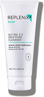Replenix Acne Solutions Gly/Sal Exfoliating Acne Cleanser, 5-2 Acne Cleanser 5% Glycolic Acid