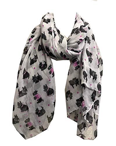 Pamper Yourself Now weiß-West Highland Terrier Hund-Entwurfs-Schal -White West Highland Terrier Dog Design Scarf