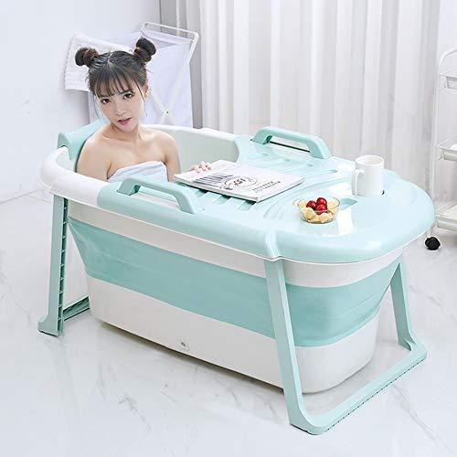 Tragbare Badewanne, Falten Große Kinder Spielen Erwachsene Kunststoff Badewannen Eisbad Warmes Bad (Color : Blue-b)