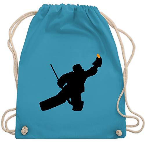 Shirtracer Eishockey - Towart Eishockey Eishockeytorwart - Unisize - Hellblau - eishockey goali - WM110 - Turnbeutel und Stoffbeutel aus Baumwolle