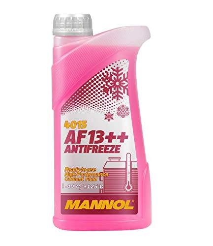 MANNOL 1 Liter, AF13++ -40°C Antifreeze Kühlerfrostschutz Fertigmischung G13