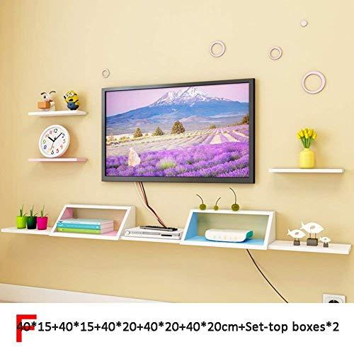 Drijvende rekken wandplank houder opslagrek Woody set-top boxen router opslag woonkamer slaapkamer houder ornament eenvoudige moderne multifunctionele 10 stijlen (kleur: I) F