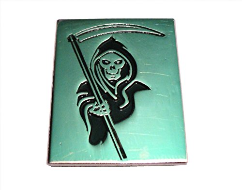 Mercmad Insigne de Motard en métal émaillé avec la Mort