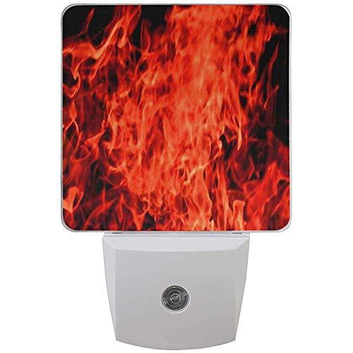 Katrine Store Night Light Red Flame Auto Senor Dusk to Dawn Lampada a LED per corridoio, Cucina, Bagno, Camera da Letto, Scale