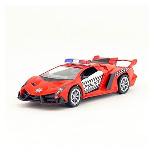 Kit Juguetes Coches Metal Resistente Modelo De Coche 1:32 De Aleación Modelo De Coche Fundido A Presión para Veneno Police Super Car Metal Car Toys Maravilloso Regalo (Color : Rojo)