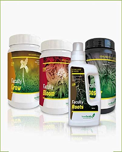GreenFaculty - Fertilizantes Abonos para Marihuana Cannabis. Kit Pack Ahorro Crecimiento, Floración,...