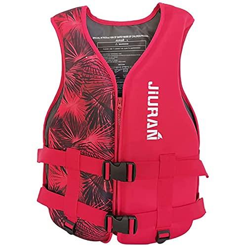 YDSZ Chalecos Salvavidas Chaleco natación Flotante Flotante Adulto niños al Aire Libre Rescate Trajes de Pesca Kayaking Snorkeling Deportes de Seguridad Accesorios Red-XS