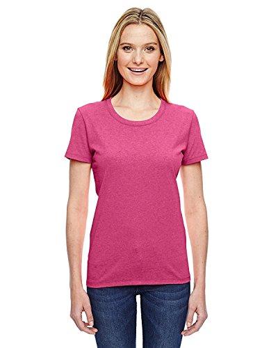 Fruit of the Loom Ladies' 5 oz, HD Cotton T-Shirt-Retro HTR Pink-S