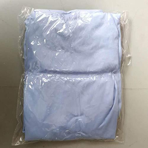 HPPSLT Protector de colchón, algodón, poliéster, Sábana cepillada Color sólido Antideslizante-Azul Oscuro_150 * 200cm