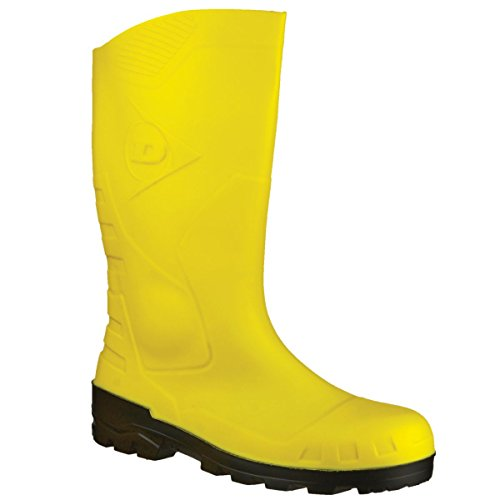 Devon Seguridad Wellington Botas de Lluvia Botas PVC Superior Hombres Calzado Amarillo/Negro, Color Multicolor, Talla