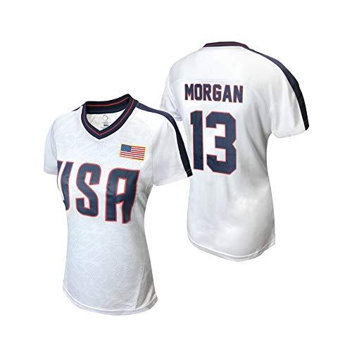 Icon Sports USWNTPA T Shirt – Official U.S. Women's National Soccer Team Players Association USA Flag Football Tee Top USWP115PT-W-MOR XL