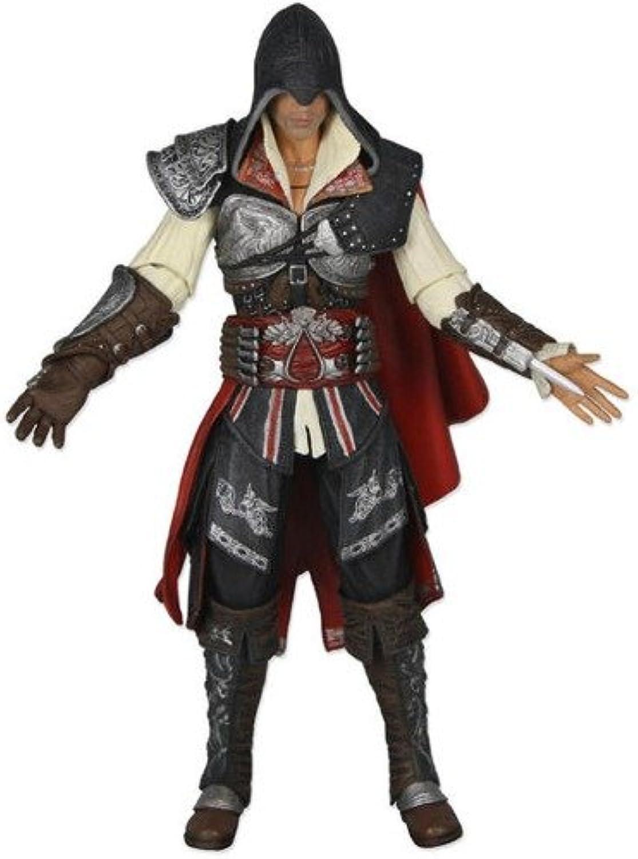 Ubisoft NECA Assassins Creed 2 Series 1 Action Figure Black Ezio Black Cloak