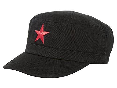 New Army Cadet Adjustable Hat w/Red Star - Black
