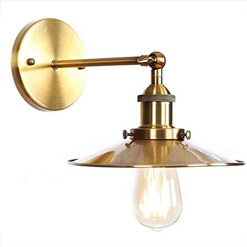 Rindasr wandlamp, ouderwets, retro lamp van ijzer van messing, wandlamp voor slaapkamer en woonkamer,