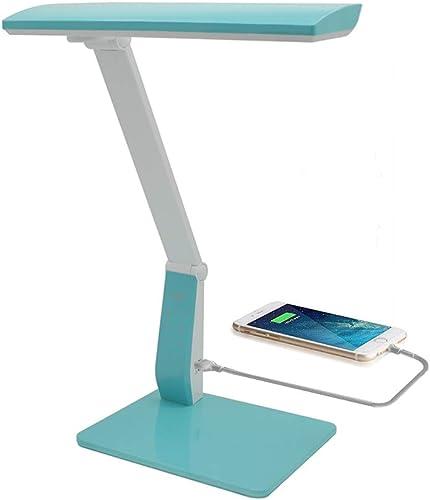Lampe de bureau LED Puissante 10w Dimmable, Port Chargeur Usb 1200 mAH, 6 Modes de Réglage de Luminosité, 10 Niveaux ...