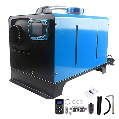 Readyfor 5KW 12V Tragbar Air Standheizung Air Diesel Heizung Kraftstoff Heizung Lufterhitzer mit Fernbedienung LCD Monitor, Geringer Kraftstoffverbrauch, CE-Zertifizierung (Blau)