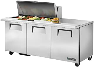 True TSSU-72-18M-B Mega-Top Sandwich/Salad Prep Table - Three Door, 19 Cu. Ft.