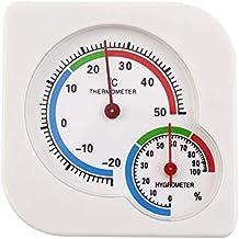 RoxTop Uso doméstico clásico Interior al Aire Libre 2 en 1 Mini higrómetro húmedo preciso Termómetro de Humedad Medidor de Temperatura Mecánico
