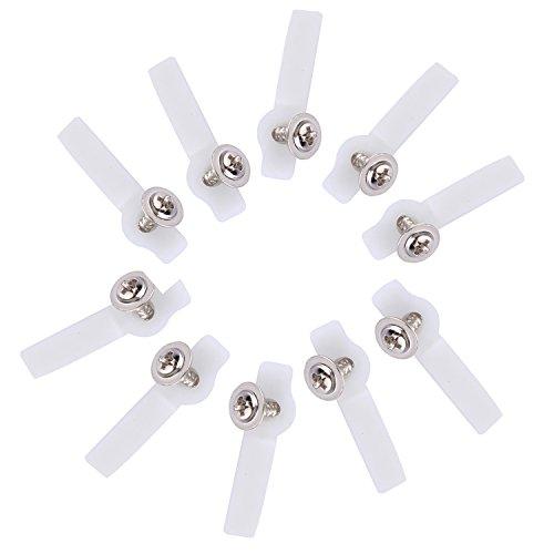 100 Stücke LED Streifen,Befestigungsleiste Licht Montagehalterung Befestigungs mit 100 Stücke Schrauben für 10mm breite Led Stripes Clips, 10mm