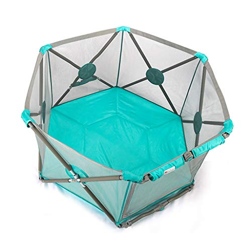 Indoor Foldable Security Game Playpen Children's Play Fence Home Ball Pool Children's Playground Best Gifts for Kids (Color : Blue, Size : 140x140x75cm)