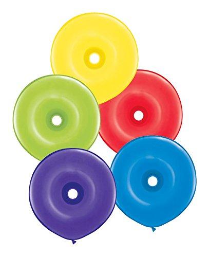 Qualatex latex ballonnen 44845-q Geo Donut stralend assortiment, 40,6 cm kleurrijk