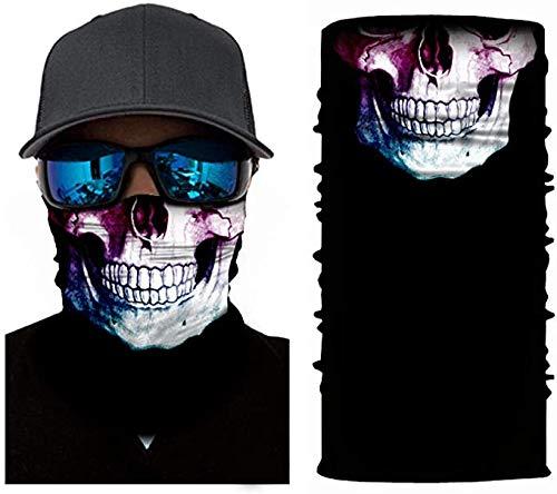3D Schedel Tulband Magic sjaal naadloze Bandanas Neck Buff Motorcycle Fietsen Gezicht Mannen Vrouwen hoofdband Hiking Sjaal,B