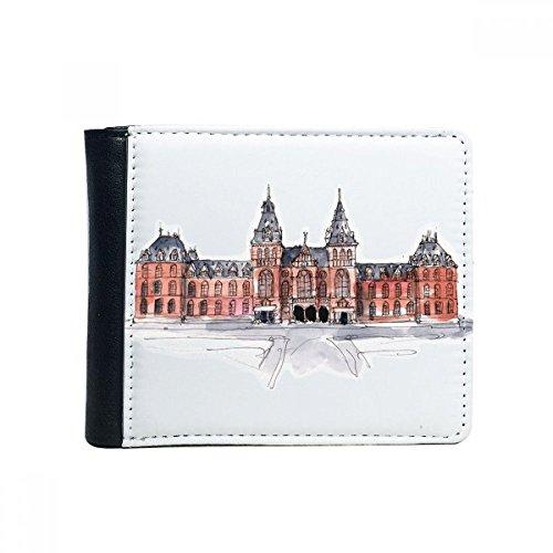 Rijks Museum in Nederlands Flip Bifold Faux lederen portemonnee multifunctionele kaart portemonnee cadeau