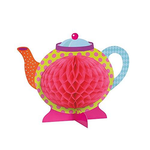 Unique Party- Decoración de Mesa de Papel de Seda Fiesta del Té del Sombrerero Loco, Multicolor (49508)