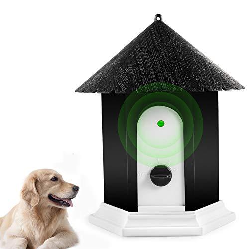 Humutan Anti Barking Device, Ultrasonic Barking Control Device, Waterproof Outdoor Anti Bark Deterrents for Small Medium Large Dogs