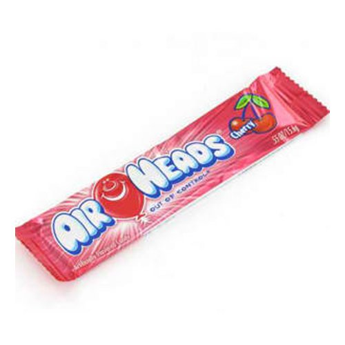 Airheads Candy, Individually Wrapped Bars, Cherry, Non Melting, Party, 0.55 Ounce (Pack of 36)