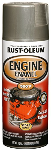 Rust-Oleum 248949 Engine Enamel, Aluminum, 12 oz, Spray Automotive Accessories, 11 oz