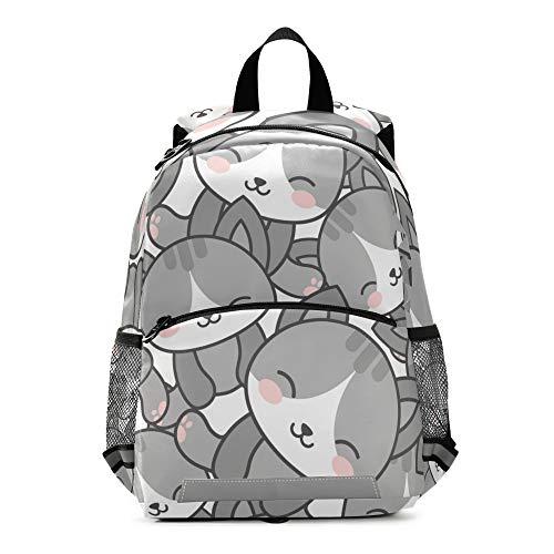 RELEESSS - Mochila para niños con correa para el pecho, mochila escolar preescolar, mochila para niños y niñas