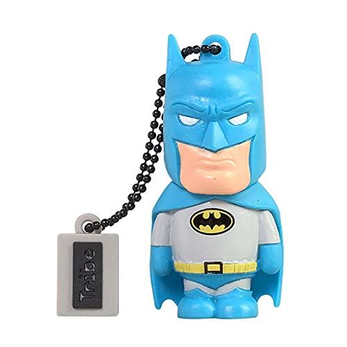 Tribe - Clé USB 16 Go Batman - Mémoire Flash Drive 2.0, Personnage Original DC Comics, Clé USB Compatible Windows, Linux et Mac