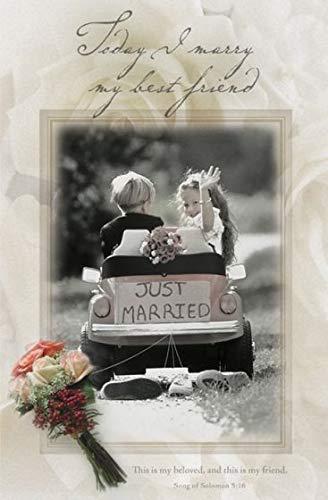 Today I marry my best friend (u6222) Wedding Programs (Pkg-100)