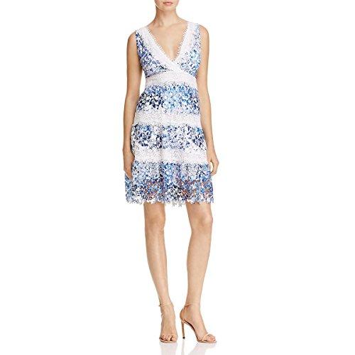 T Tahari Women's Raya Dress, Blue, Large
