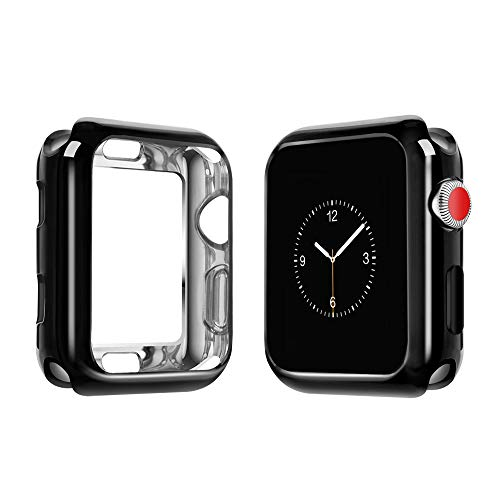 top4cus Environmental Soft Flexible TPU Anti-Scratch Lightweight Protective 38mm Iwatch Case Compatible Apple Watch Series 5 Series 4 Series 3 Series 2 Series 1 - Black