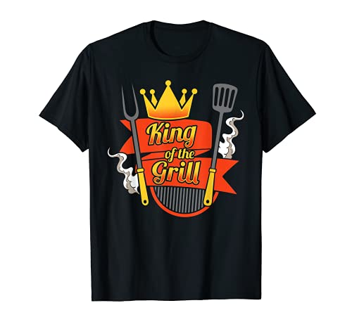 Rey de la parrilla maestro cocinero cocinar barbacoa Camiseta