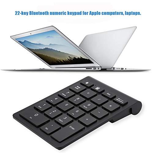 Teclado numérico Teclado Bluetooth inalámbrico Negro silencioso Teclado Bluetooth para computadora portátil, computadora de Escritorio, PC, portátil