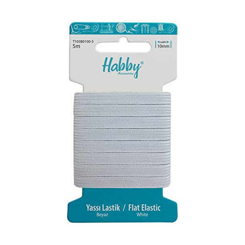 Habby Accessories 1,5 mm   3 mm   4 mm   6 mm   8 mm 10mm Elástico - 5 Metros