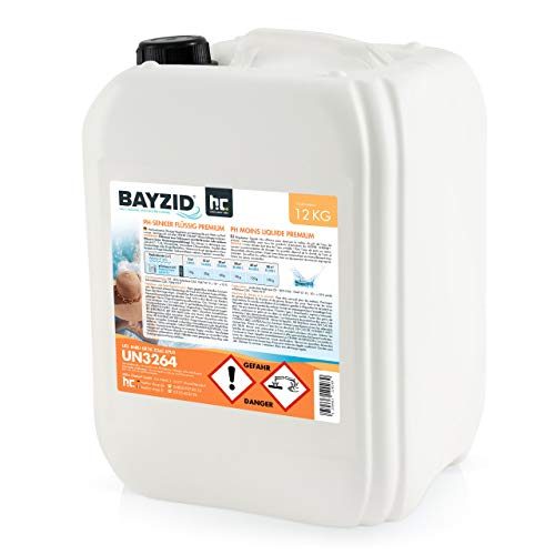 Höfer Chemie 12 kg pH Senker Premium flüssig Senkung des pH Werts im Pool - für einen optimalen pH Wert und TOP Wasserqualität im Pool