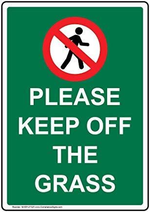 Houd het gras metalen waarschuwingsborden, prive-teken, tuin hek werf teken 8