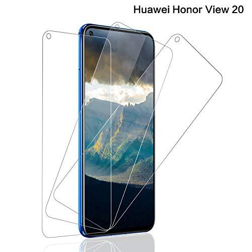 SNUNGPHIR® Cristal Templado Huawei Honor View 20, [3-Pack] Protector Pantalla Honor View 20 Cristal Templado [2.5d Borde Redondo][9H Dureza][Alta Definición][Anti-Arañazos][Anti-Huella Digital]