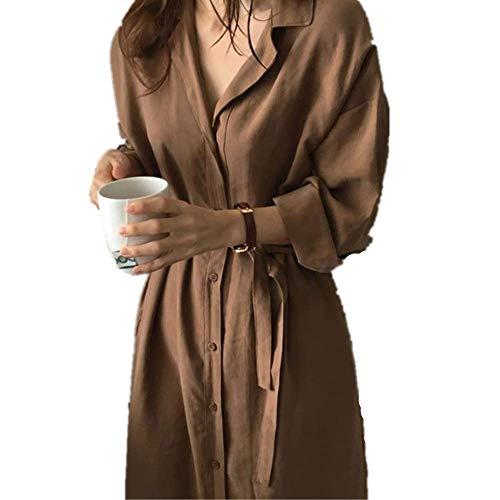 NOBRAND - Abrigo largo para mujer Color caramelo. M