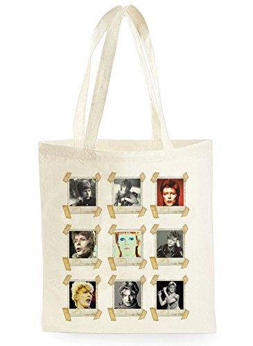Uk Print King David Bowie Faces, Einkaufstasche fürs Einkaufen, Picknick, Zuhause, Lagerung und Schule, tote bag