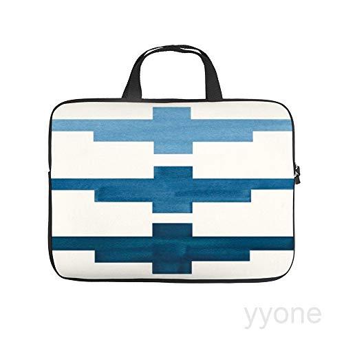 Neoprene Sleeve Laptop Handle Bag Handbag Notebook Case,Mid century minimalist ancient aztec inca geometric pattern,HOUSE PLANTS Portable MacBook Laptop/Ultrabooks Case Bag Cover 17 Inch