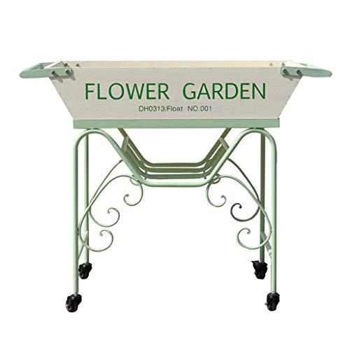 JCOCO Blanc vert en fer forgé bois fleur supports bois fleur jardin Villa modèle usine douze fenêtre affichage cadre